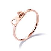 【5折超值價】時尚精美簡約細版別針造型鈦鋼女款戒指