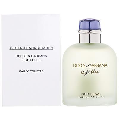 【D&G】淺藍男性淡香水 125ml-Tester包裝