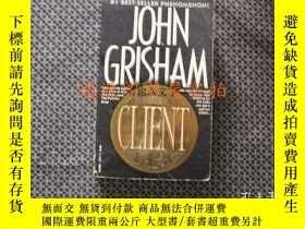 二手書博民逛書店英文原版:THE罕見CLIENT(帶書籤)Y175601 Joh