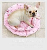 *King WANG*寵喵樂《花開富貴暖窩XL》超厚實睡床/睡窩 犬用
