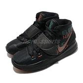 Nike 籃球鞋 Kyrie 6 GS Eleven 黑 女鞋 彩色文字圖騰 KI6 運動鞋【ACS】 BQ5599-006