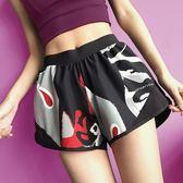 防走光運動短褲女寬鬆健身房速干薄款高腰跑步瑜伽健身褲夏季洛麗的雜貨鋪