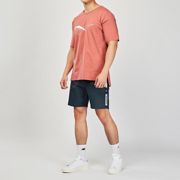 Reebok CN KT BK PRINT TEE 男裝 粉色 經典休閒  舒適 透氣 短袖 DX5578