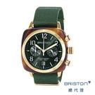 BRISTON 手工方糖錶 折射光感 綠...