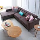 L型沙發【UHO】幸福節奏L型棉麻布沙發...
