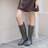 雨牧日系長筒雨靴時尚款外穿防滑水靴輕便防水套鞋水鞋高筒雨鞋女 LR20959『麗人雅苑』