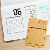 A7迷你手帳月曆貼x12枚入 / 日常時光 【W2Design】