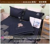 精梳棉五件式【床罩】(5*6.2尺) 標準/御芙專櫃『幸福紐約』藍☆╮