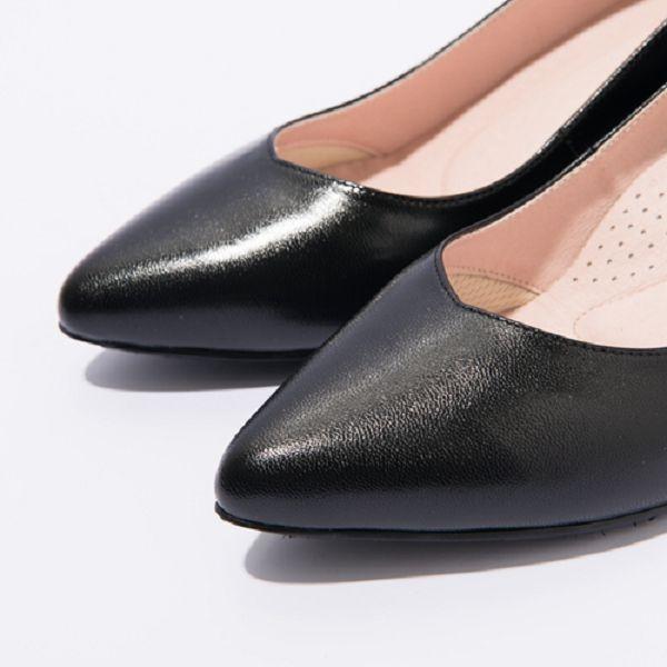 ★2017春夏新品★kadia.OL小羊皮素面高跟尖頭鞋(7021-91黑)