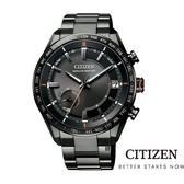 CITIZEN 星辰/光動能 GPS廣告款 黑鈦衛星電波錶 (CC3085-51E) /43.5mm