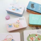 收納盒catshow小清新甜點貓咪鐵盒 可愛收納箱飾品文具盒整理盒子