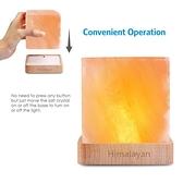 水晶鹽燈天然負離子凈化空氣辦公臥室床頭小夜燈喂奶