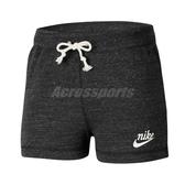 Nike 短褲 NSW Gym Vintage Shorts 深灰 白 女款 棉質 運動休閒 【ACS】 CJ1827-010