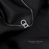 項鏈女925純銀環環相扣簡約氣質鎖骨鏈【少女顏究院】