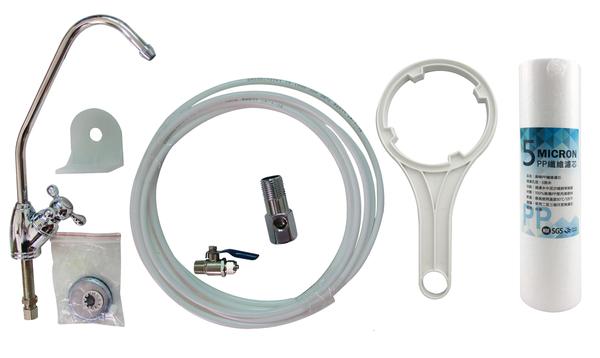 美國EVERPURE賓特爾愛惠普S104二道式白鐵腳架淨水器.過濾器QL2濾頭蓋,4520