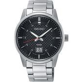 SEIKO精工 CS 城市系列大日期視窗手錶-黑x銀/40mm 6N76-00H0D(SUR269P1)