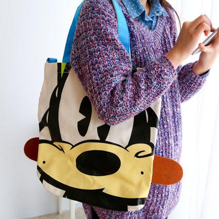 正版迪士尼腳丫子造型帆布萬用包(附背帶) 肩背包 側背包 手提包 斜背包 收納袋 書包 迪士尼