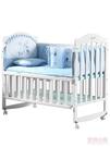 嬰兒床 嬰兒床白色實木搖籃床新生兒拼接大床多功能bb寶寶小床兒童搖搖床 店慶降價