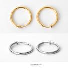 夾式耳環 時尚經典大圈圈耳夾耳環 素色簡約單品 輕鬆方便配戴【ND224】一對價格