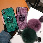 vivox23 極光紫色vivox23幻炫彩版手機殼x23水鉆支架毛球x23軟歐美祖母綠大款