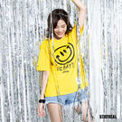 BE HAPPY 陽光大笑臉系列 以主理人五月天阿信獨有的笑臉簽名 推出充滿快樂與正能量的潮流服飾