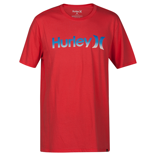 Hurley ONE & ONLY GRADIENT T恤-Premium Fit-紅(男)