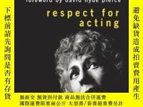 二手書博民逛書店Respect罕見For ActingY255562 Uta Hagen Wiley 出版2008