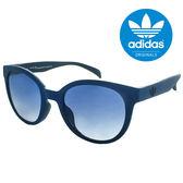 【adidas 愛迪達】復古圓大框深藍色太陽眼鏡/運動眼鏡#藍鏡面(002-021-009)