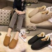 低筒雪靴-時尚簡約百搭保暖女厚底靴子3色73kg59[巴黎精品]