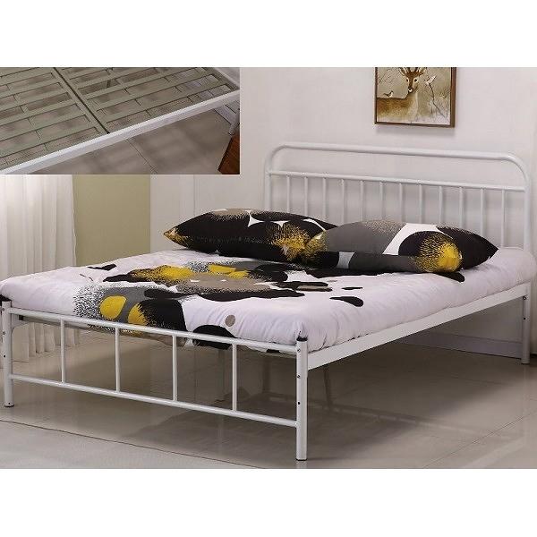 床架 床台 鐵床 SB-597-2 卡爾5尺白色雙人鐵床 (不含床墊) 【大眾家居舘】