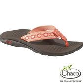 Chaco 美國佳扣 女 經典戶外休閒涼鞋 紅珊瑚 CH-ETW01 HB47 │夾腳拖鞋│沙灘拖