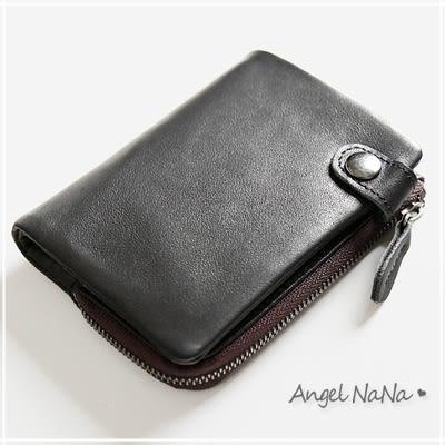 真皮短夾-義大利進口層牛皮橫款豎款男士皮夾 AngelNaNa(SMA0258)