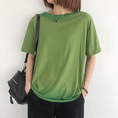 純棉T恤女 圓領短袖T恤 套頭短袖打底衫/5色-夢想家-0430