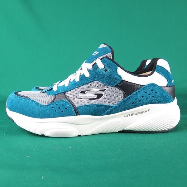 Skechers MERIDIAN OSTWACC 休閒鞋 52952TEAL 藍綠 男款 麂皮拼接【iSport愛運動】
