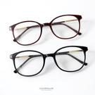 鏡框 圓型膠框平光眼鏡  柒彩年代【NY...