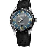 ORIS 豪利時 Divers Sixty-Five1965復刻潛水機械錶-藍x黑/40mm 0173377074065-0742018