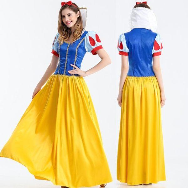 成人服裝冰白雪公主服裝夜場派對禮服長裙洋裝XL表演服舞衣cosplay大人造型壞皇后服裝