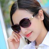 女士偏光太陽鏡 新款潮圓臉優雅墨鏡個性時尚大框長臉開車眼鏡  凱斯盾數位3C
