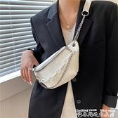 胸包小眾包包高級感胸包女ins潮2021新款夏季時尚鍊條側背斜背小腰包 迷你屋