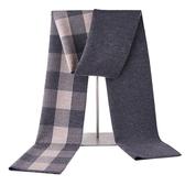 針織圍巾-經典方格提花羊毛男披肩3色73wi54【時尚巴黎】