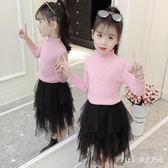 女童毛衣 打底高領童秋裝女寶寶冬加厚套頭洋氣兒童針織衫 nm8916【Pink中大尺碼】