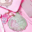 《花花創意会社》【G09251】小美人魚夢幻粉貝殼吊牌卡包  加購禮