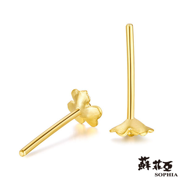 蘇菲亞SOPHIA - G LOVER系列 酢醬草之2黃金耳環