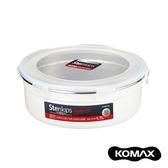 韓國KOMAX Stenkips不鏽鋼圓型保鮮盒1700ml(白色)1700ml