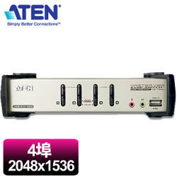 ATEN宏正 CS1734B 4埠桌上型KVM切換器(鍵鼠P+U/2048x1536)