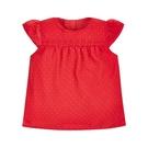 mothercare  紅色水玉荷葉袖上衣-盛裝系列(M0JH898)3~7A