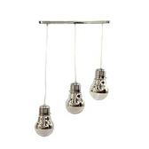燈泡造型3燈玻璃排吊燈