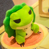 生日禮物 抱枕旅遊青蛙玩偶辦公室午睡毯靠墊毛絨公仔23cm