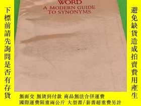二手書博民逛書店USE罕見THE RIGHT WORD: A MODERN GUIDE TO SYNONYMSY432063