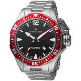 Hamilton 漢米爾頓卡其海軍 1000米鈦金屬蛙人腕錶 H77805335   買即附送代用 鈦合金屬錶帶